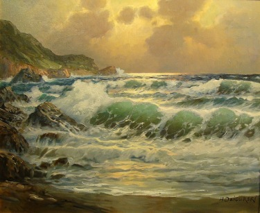 Alexander Dzigurski Coast at Big Sur 20x24 Oil