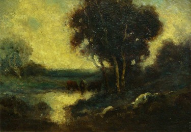 Alexis M Podchernikoff Twilight 10x14 Oil on Board