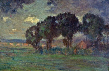 Alexis Compara Farm Late Afternoon 12x18 Oil on Canvas