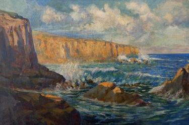 Ferdinand H Kamps Coastal Reflections 24x36 Oil on Canvas