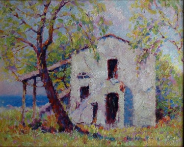 Francis Stilwell Dixon The Beach Cottage 8x10 Oil on Board