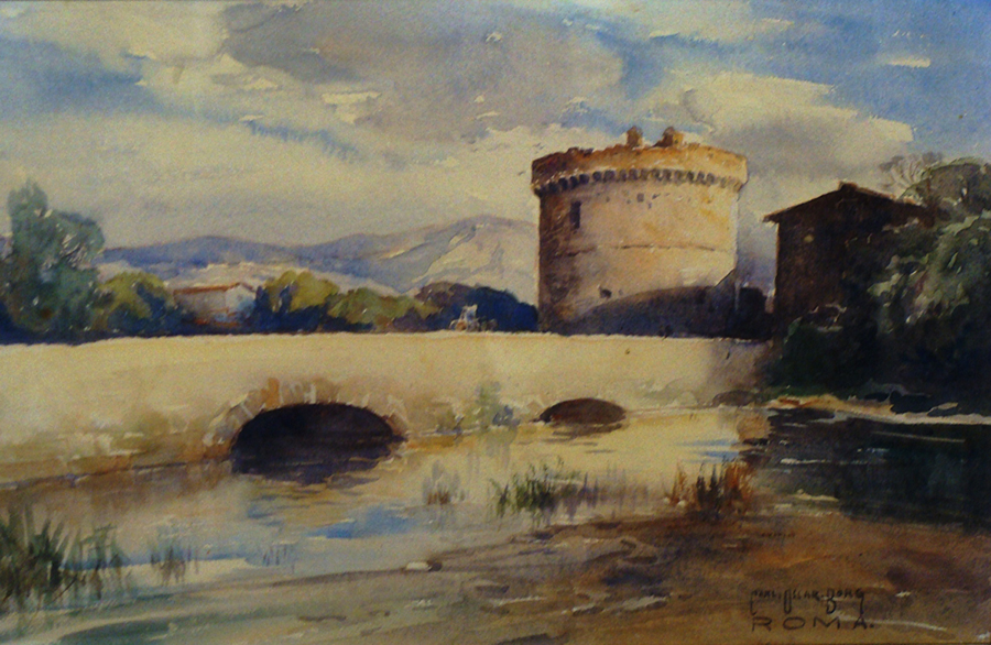 Carl Oscar Borg Roma 11x15 Watercolor