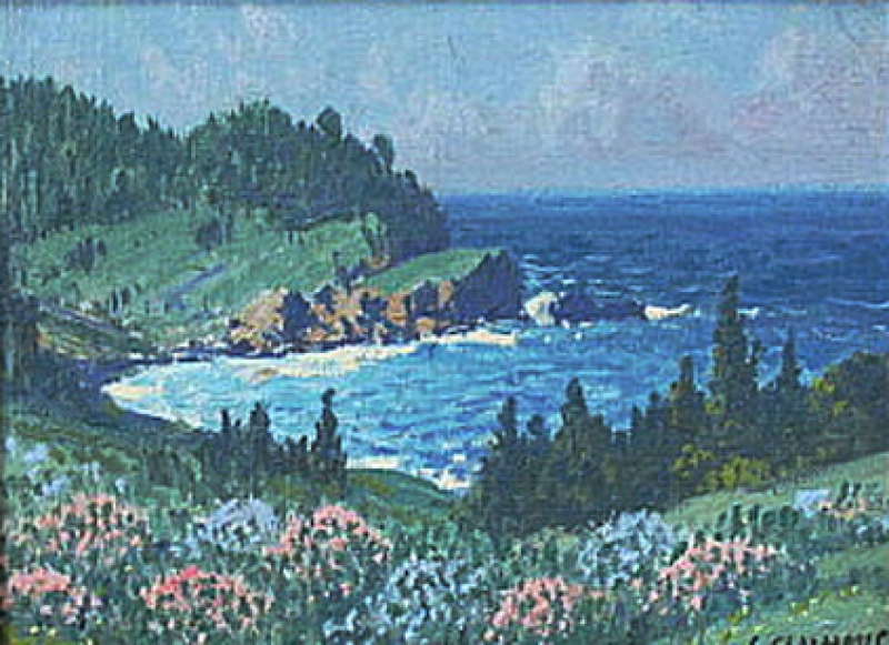 Carl Sammons Carmel by the Sea 6x8 Oil