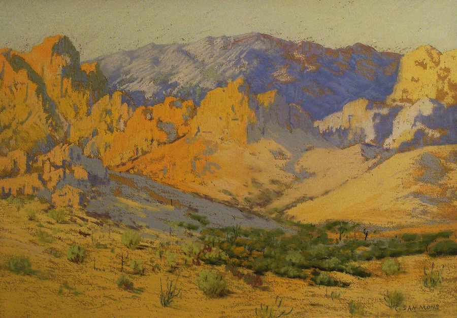 Carl Sammons Desert near Palm Springs 10x14 Pastel