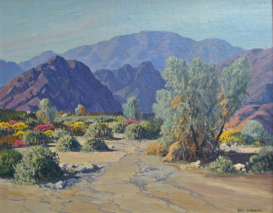 Carl Sammons La Quinta Canyon Palm Springs 16x20 Oil on Board