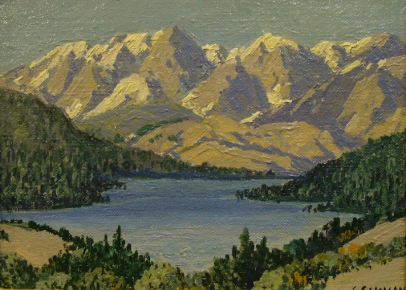 Carl Sammons Sierra Lake 6x8 Oil