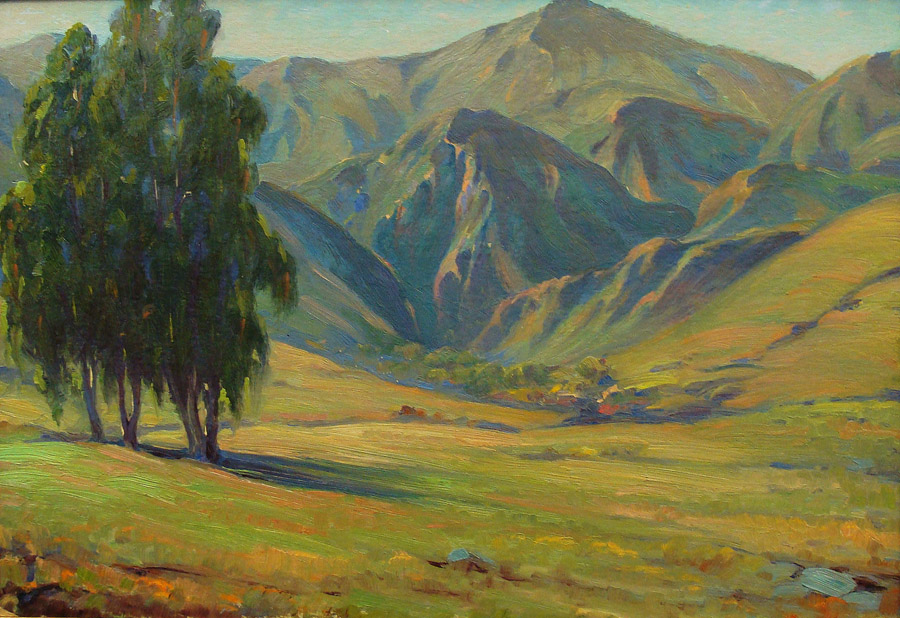 Carl Zimmerman Hills near Saugus 13x18 Oil on Board