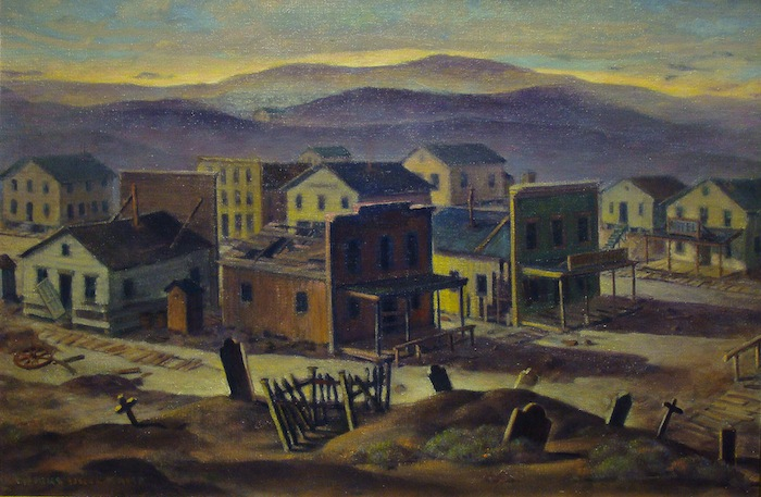 Charles Drogkamp Boot Hill California Ghost Town 20x30 Oil