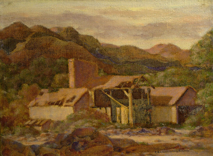 Charles Drogkamp Old Mining Camp 12x16 Oil on Canvas