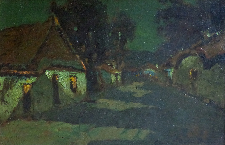 "Charles Rollo Peters ""Moonlight"" 12x18 Oil on Canvas"