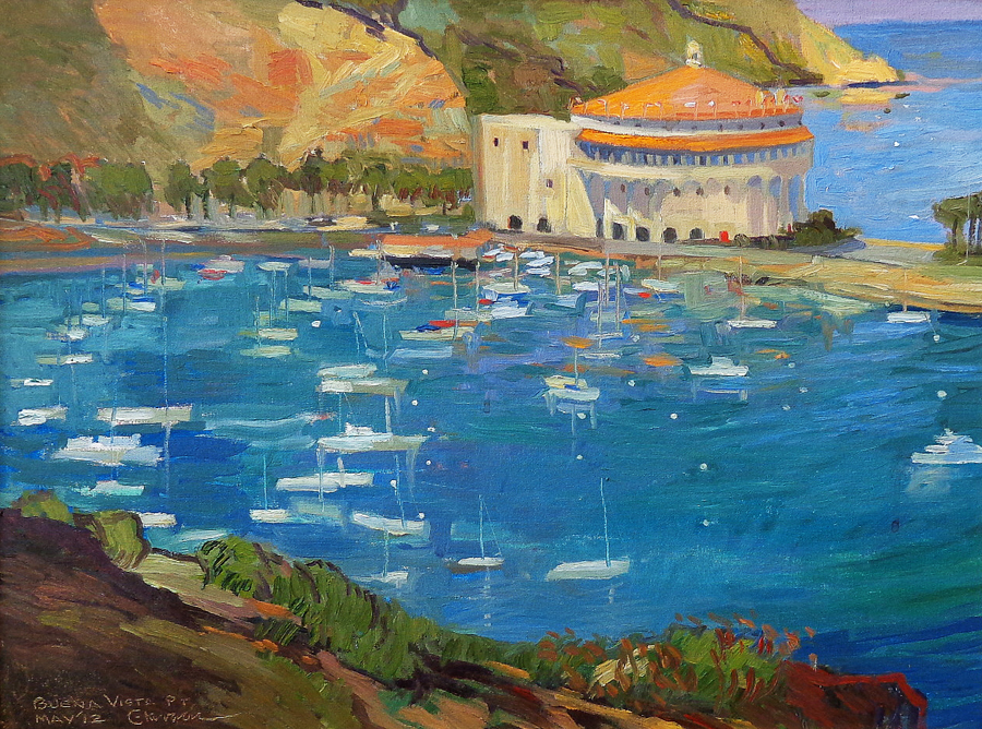 Chuck Kovacic Buena Vista Point Catalina 18x24 Oil on Canvas