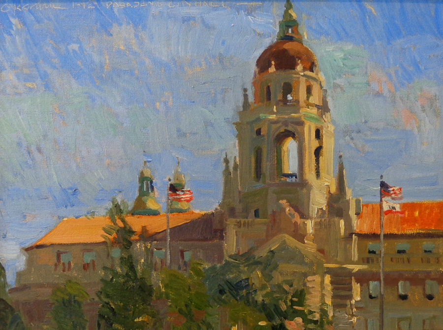 Chuck Kovacic Pasadena City Hall 12x16 Oil on Board