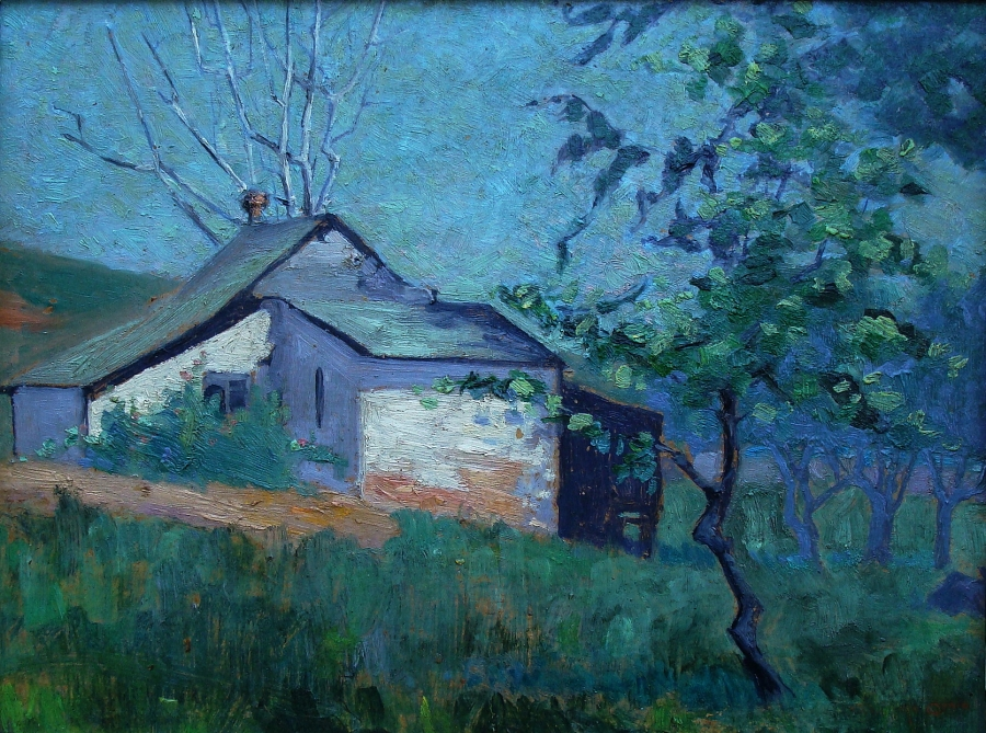 Clara McQuaid Carmel Farm House 10x13 Oil on Board