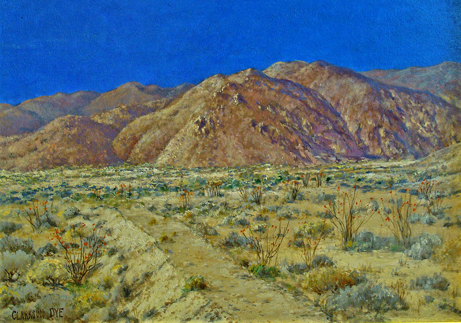 Clarkson Dye Borrego Springs Ocotillo Forest 16x24 Oil on Board