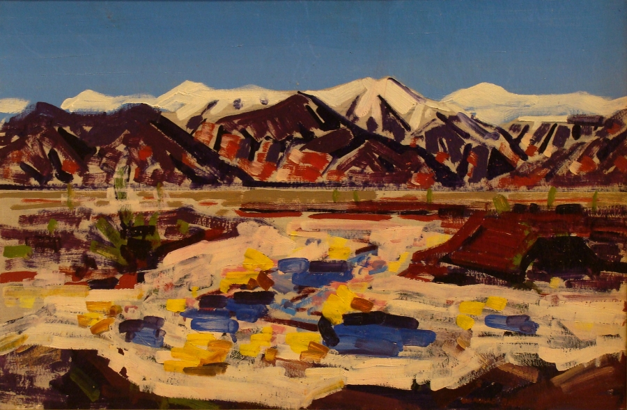 Conrad Buff Owens Valley 16x24 Oil