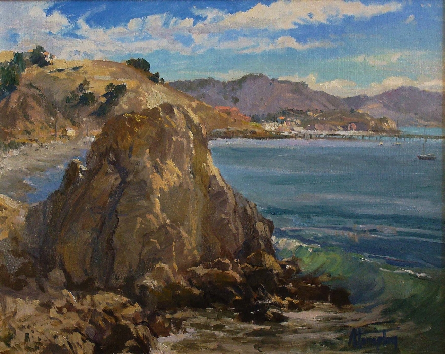 Anita Hampton California Harbor 16x20 Oil on Board
