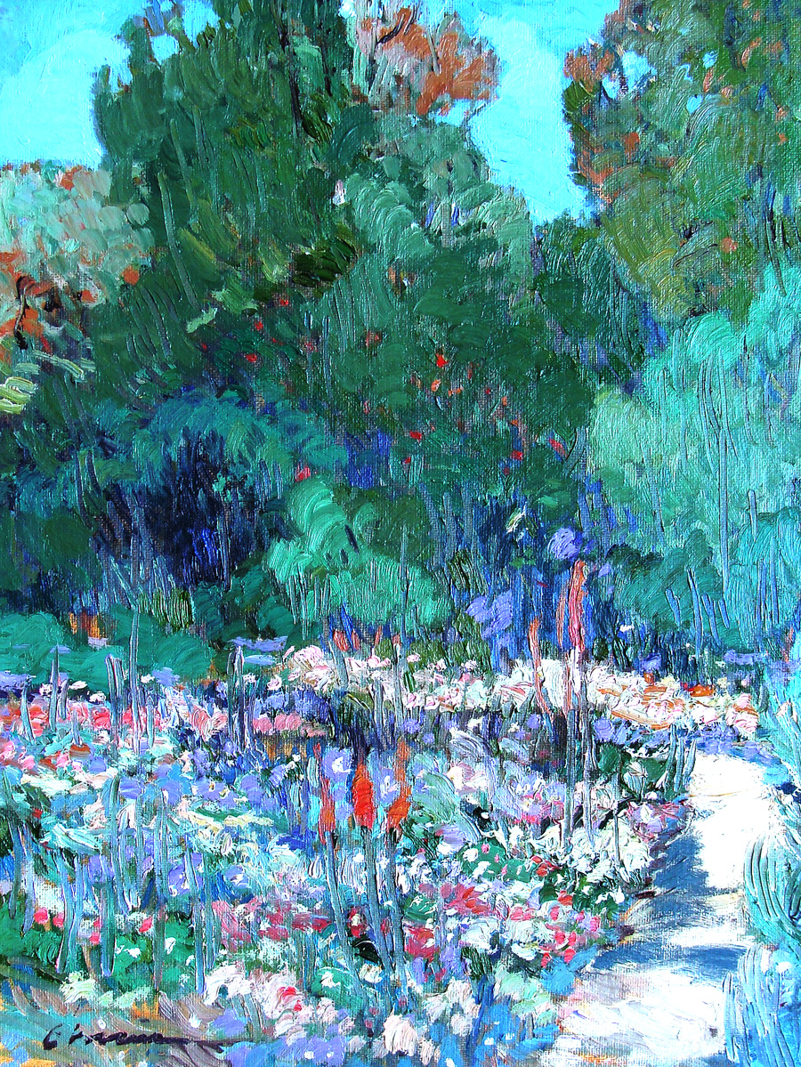 Chuck Kovacic LA Arboretum 18x24 Oil on Board