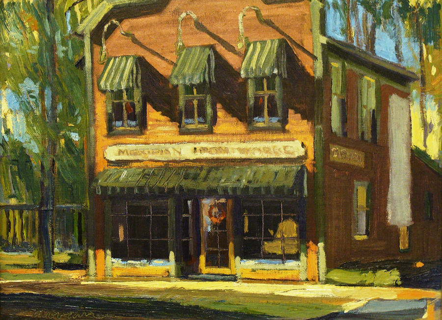 Chuck Kovacic Old Iron Works South Pasadena 12x16 Oil on Board