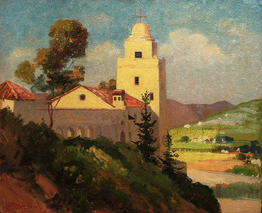 Edith Jones San Diego Presidio 13x16 Oil on Board