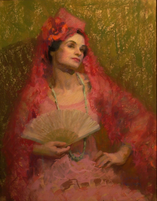 Eleanor Merriam The Contessa 30x24 Pastel