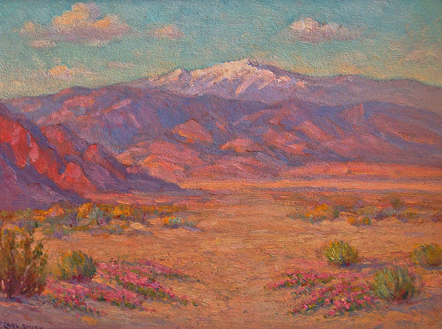 F Carl Smith Desert near Palm Springs 12x16 Oil on Board