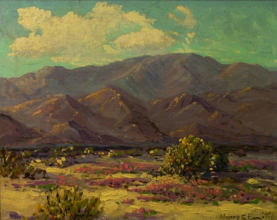 Harry C Smith Desert in Springtime 16x20 Oil on Canvas