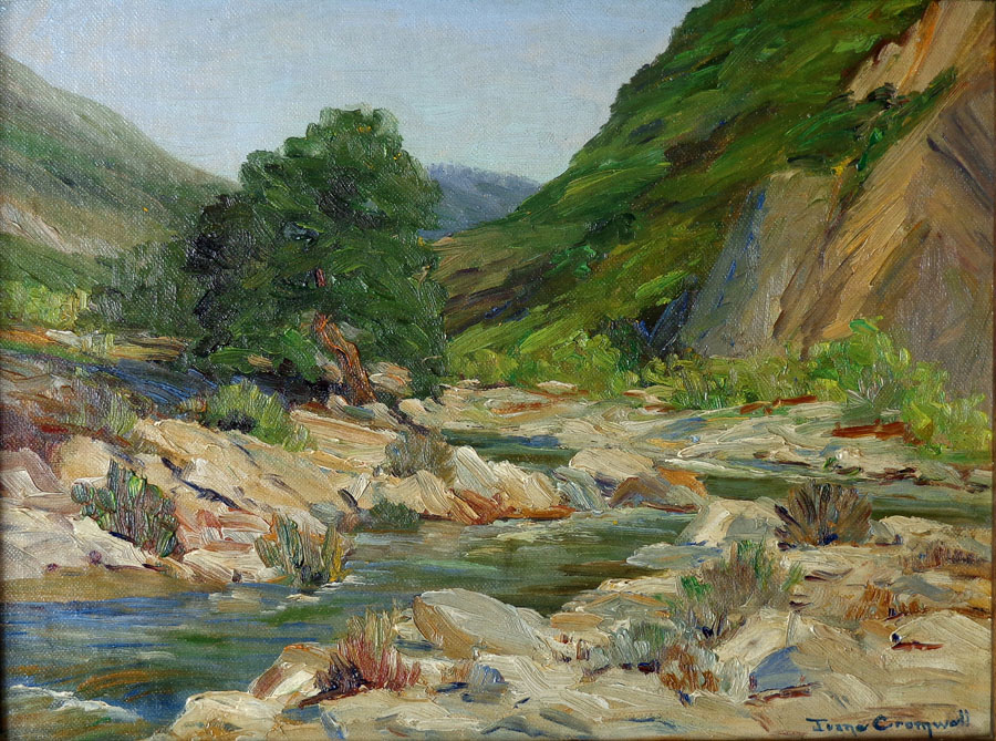 Joane Cromwell San Jacinto River 9x12 Oil on Canvas