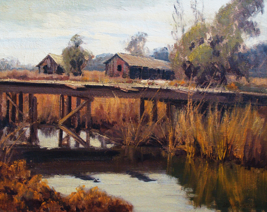 Darwin Duncan Old Bridge 16x20 Oil on Board