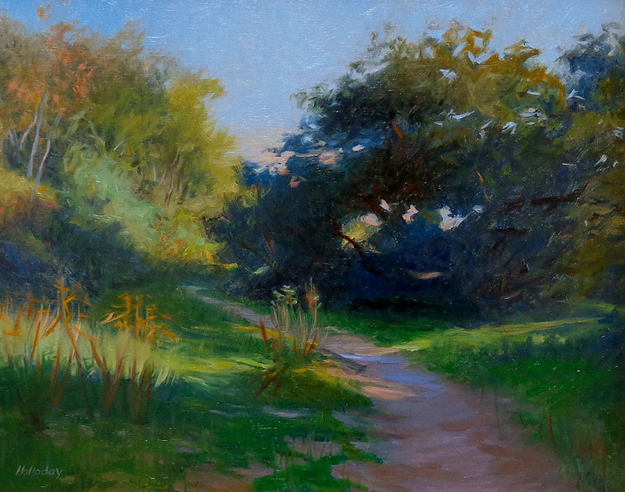 Debra Holladay Shadows Eaton Canyon 16x20 Oil on Board