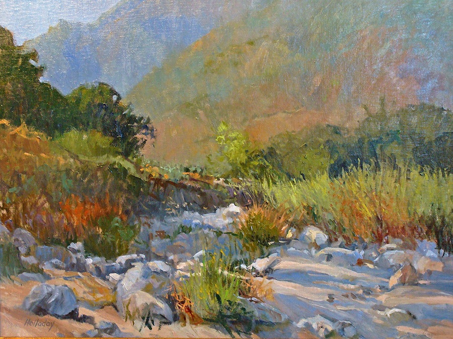 Debra Holladay Santa Anita Canyon 18x24 Oil on Board