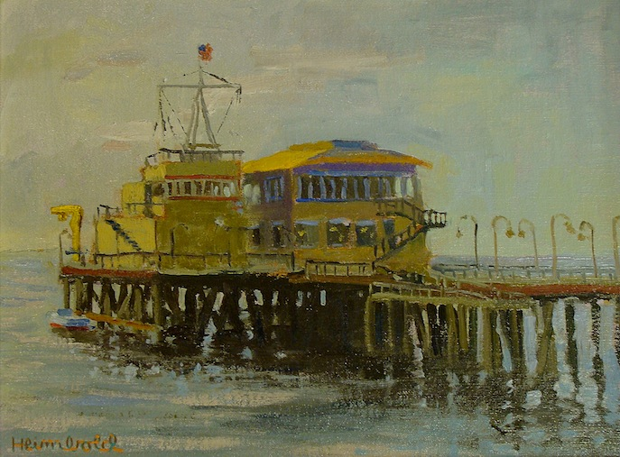 Dick Heimbold End of Santa Monica Pier 12x16 Oil
