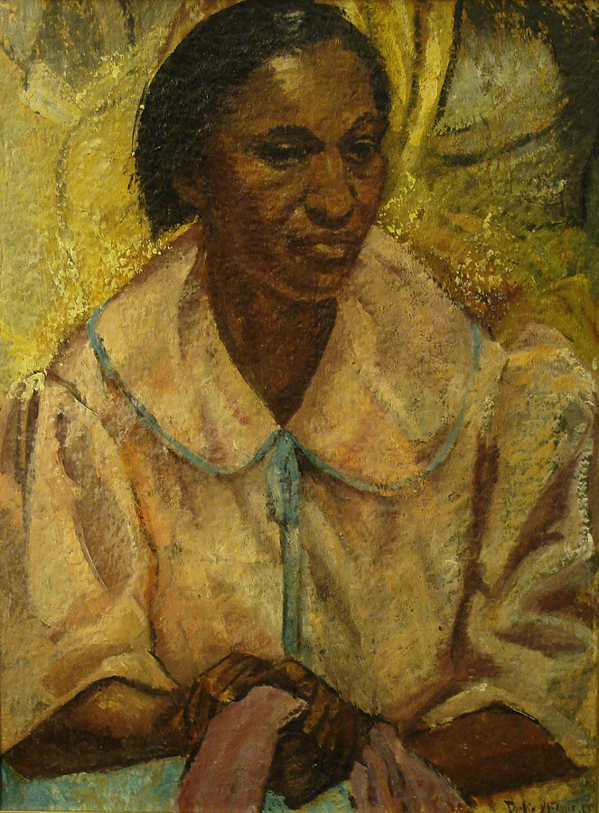 Dickie Elaus Washer Woman 24x30 Oil on Board