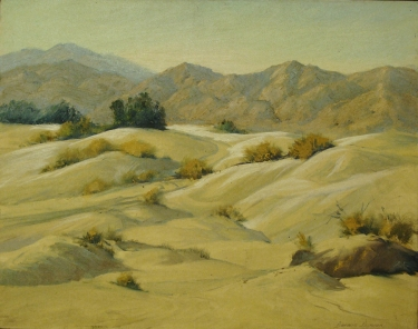 Darwin Duncan Dunes near Palm Springs 16x20 Oil on Board