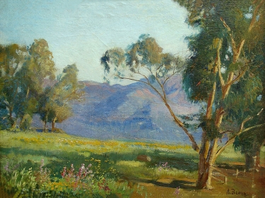 Adolph M. Brougier Santa Barbara Landscape 18x24 Oil on Board