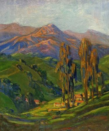 Alice Comins Hills of Santa Barbara 24x20 oil on canvas