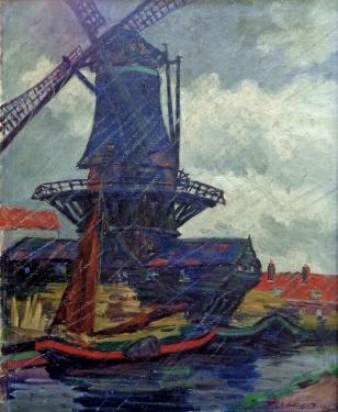 Alice Worthington Ball Bad Day North Holland 34x28 Oil on Canvas