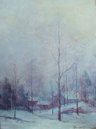Alta West Salisbury Winter White Out 24x18 Oil on Canvas