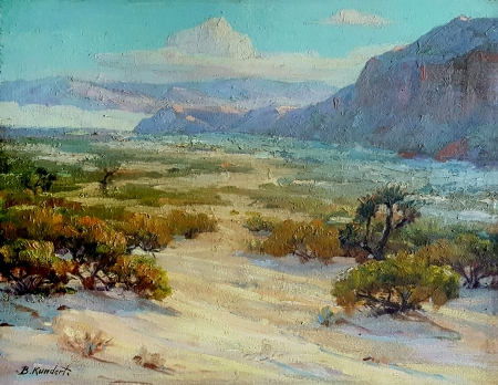 Balthasar Kundert Near Palm Springs 16x20 oil on board