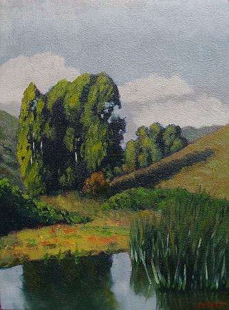 Bruce Everett The Local Marsh 12x9 Oil on Canvas