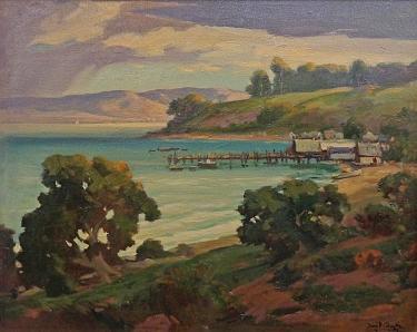 David F. Schwartz Camp at China Beach 25x30 Oil on Canvas