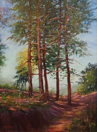 Debra Holladay Mountain Pines 24x18 oil on canvas board