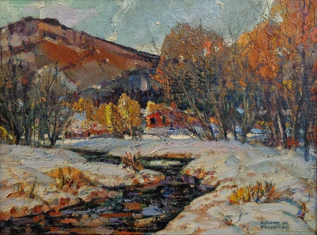 Eugene Frandzen The Catskills 12x16 Oil on Board