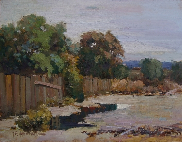 Felice Hrovat Back Lot 9x12 Oil on Board