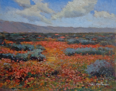 Felice Hrovat California Poppies-Antelope Valley 11x14 Oil on Canvas