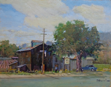 Felice Hrovat Central California Winery 11x14 Oil on Board
