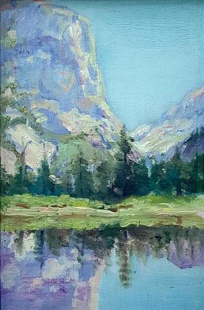 Frederick Carl Smith Yosemite Floor 9 1/2 x 6 1/2 oil on board