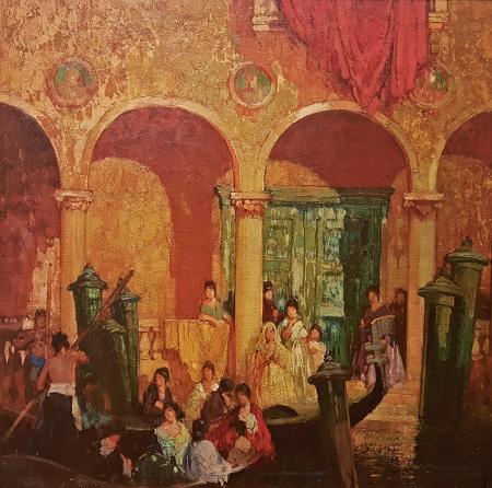 Frederick Milton Grant The Wedding Party 30x30 oil on canvas