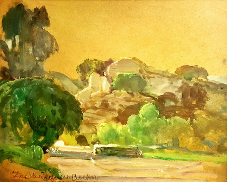 Frederick W. Becker Spahn Ranch Chatsworth 8x10 Oil on Board