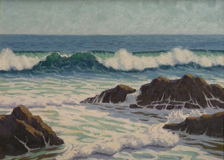 J. Mason Reeves Laguna breakers 9x12 oil on canvas board