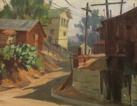 Jack Macartney Awaiting Redevelopment–Laguna Beach 14x18 Oil on Canvas Board